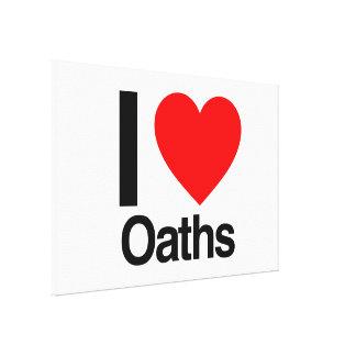 i love oaths canvas print