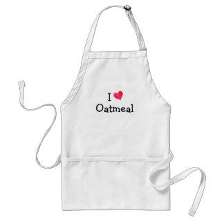 I Love Oatmeal Standard Apron
