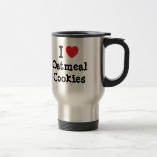 I love Oatmeal Cookies heart T-Shirt Mugs
