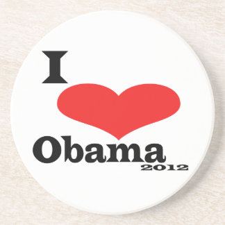 I Love Obama 2012 Coaster