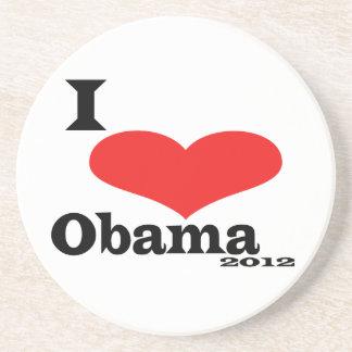 I Love Obama 2012 Drink Coasters