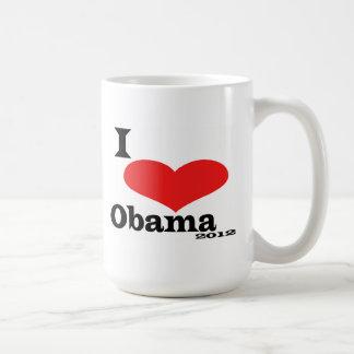 I Love Obama 2012 Mug