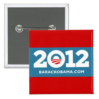 I Love Obama 2012 Pinback Buttons