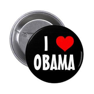 I Love Obama 6 Cm Round Badge