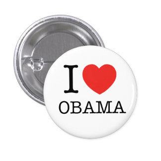 I love Obama Pinback Buttons