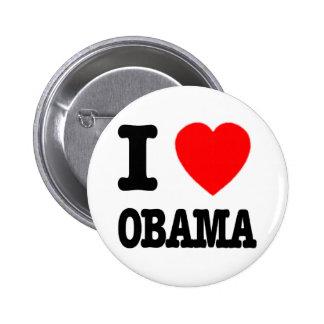 I Love Obama Button