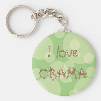 I love OBAMA Basic Round Button Key Ring