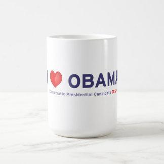 I love Obama Basic White Mug