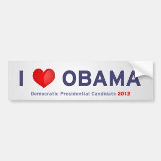 I love Obama Car Bumper Sticker