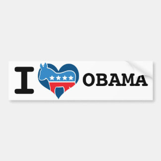 I Love Obama Bumper Sticker