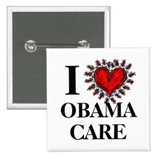 I Love Obama Care Button