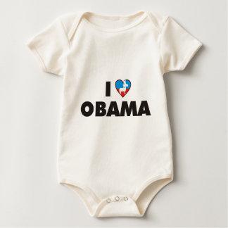 i love obama democrats baby bodysuit