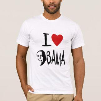 I love obama mens crew neck tee