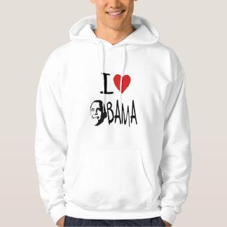 I love obama  mens hoodie