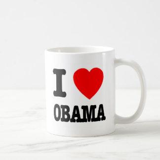 I Love Obama Coffee Mugs