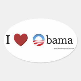 I love Obama Oval Sticker