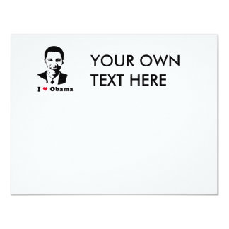 I Love Obama T-shirt 4.25x5.5 Paper Invitation Card