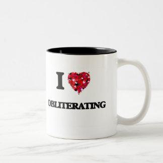I Love Obliterating Two-Tone Mug