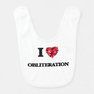 I Love Obliteration Baby Bibs