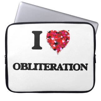 I Love Obliteration Computer Sleeves