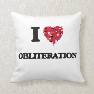 I Love Obliteration Throw Cushions