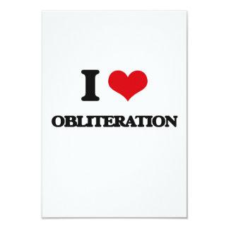 "I Love Obliteration 3.5"" X 5"" Invitation Card"