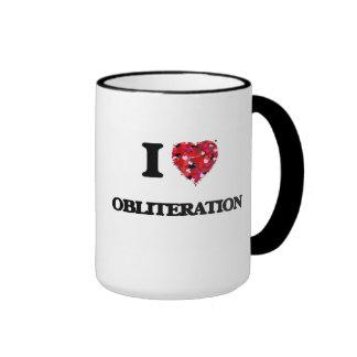 I Love Obliteration Ringer Mug