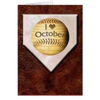 I Love October Card