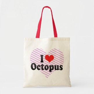 I Love Octopus Canvas Bag
