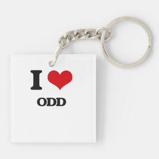 I Love Odd Acrylic Keychain