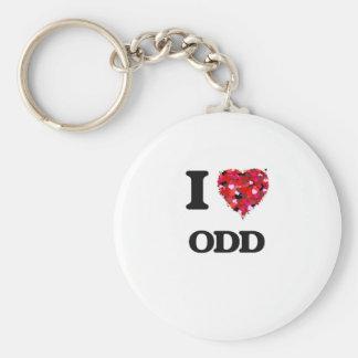 I Love Odd Basic Round Button Key Ring