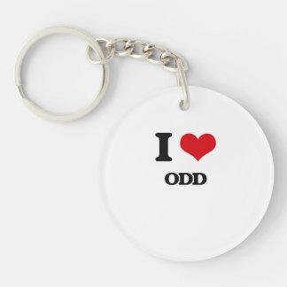 I Love Odd Key Chain