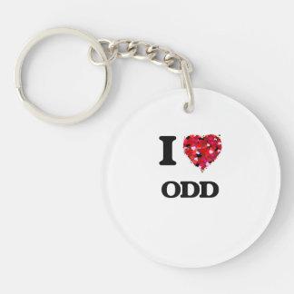 I Love Odd Single-Sided Round Acrylic Key Ring