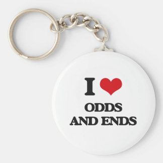 I Love Odds And Ends Keychain