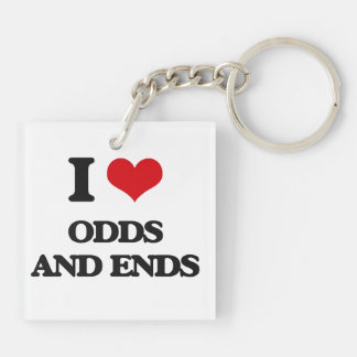 I Love Odds And Ends Square Acrylic Key Chains