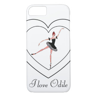 I LOVE ODILE, BALLET CASE, SWAN LAKE BALLERINA iPhone 7 CASE