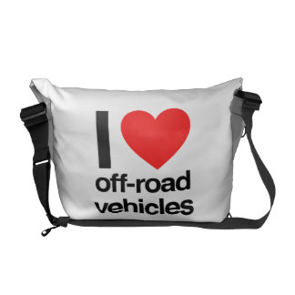 i love off-road vehicles courier bag