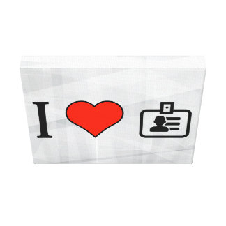 I Love Office Logos Gallery Wrap Canvas