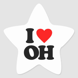 I LOVE OH STAR STICKERS