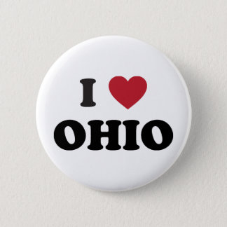 I love Ohio 6 Cm Round Badge