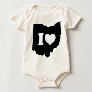 I Love Ohio Baby Bodysuit