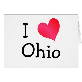 I Love Ohio Greeting Card