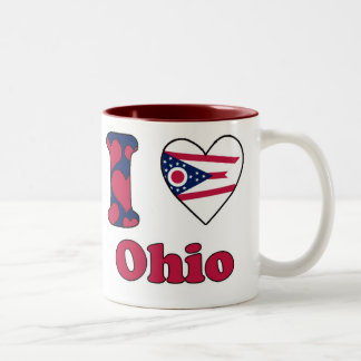 I love Ohio Two-Tone Coffee Mug