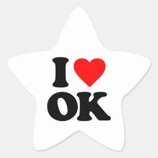 I LOVE OK STICKERS