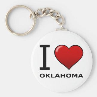 I LOVE OKLAHOMA KEY RING