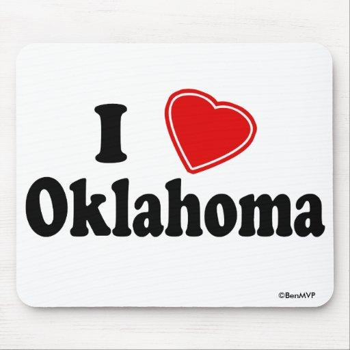 I Love Oklahoma Mousepads