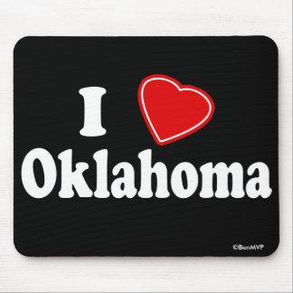 I Love Oklahoma Mouse Pad