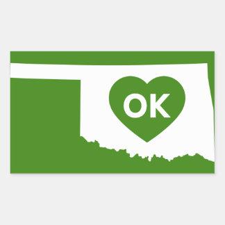 I Love Oklahoma State Stikers Rectangular Sticker