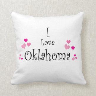 I Love Oklahoma Throw Pillow