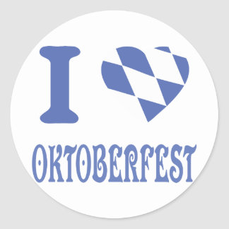 I love oktoberfest classic round sticker